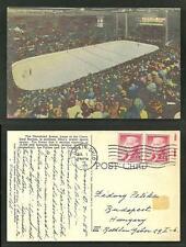 Cleveland Arena Ice Hockey Stadium Ohio 2 stamps 1955