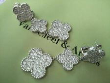 Van Cleef & Arpels Vintage Magic Alhambra 18k White Gold Earrings With Diamonds