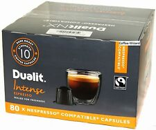 DUALIT INTENSE ESPRESSO 80 CAPSULES NESPRESSO COMPATIBLE COFFEE PODS STRENGTH 10