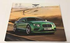 2015 Bentley New Continental GT Range VIP Brochure GT GTC V8 W12 Speed Models