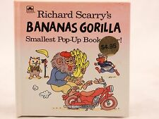 Richard Scarry's Bananas Gorilla Smallest Pop-up Book Ever. NEW! 1992