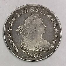 1806 DRAPED BUST Silver Half Dollar. HIGHER GRADE COLLECTOR COIN FOR COLLECTION.