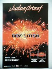 """PUBLICITE-ADVERTISING :  JUDAS PRIEST  2001 Pour la sortie de """"Demolition"""""""