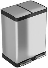 iTouchless SoftStep 16 Gallon Step Trash Can / Recycle Bin – 61 Liter