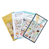 2x Vintage Travel Food DIY Decoration PVC Stickers For Diary Scrapbooking Gif Z0
