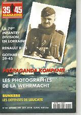 39-45 N°159 PROPAGAND KOMPANIE /RENAULT R-35 / GOTHARD / BUNKER LEUCATE /79thDI