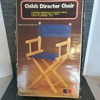 Childs Director Chair Blue Made In Taiwan