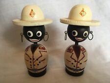 Bahama Souvenir Salt & Pepper Shakers Ethnic Tour Guide Hand Painted Wooden