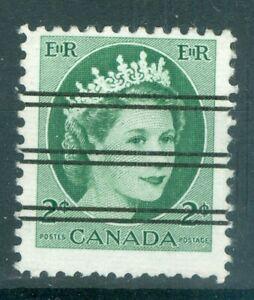Canada 1955 2¢ Green QEII Wilding Precancel - Uni#X338