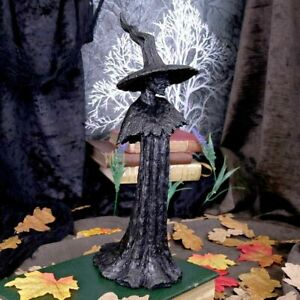 Nemesis Now  TALYSE  Black Glittered Witch  Pagan Witch Gothic Witchcraft Vamp