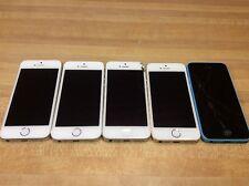 Lot Of 5 Apple iPhone 5 5s 5c Se 16GB 32gb Sprint Verizon AT&T T-mobile Metro