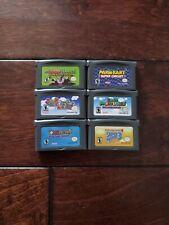 Nintendo Gameboy GBA Super Mario Advance 1 2 3 4 Superstar Saga Mario kart Repro