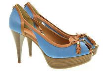 GUESS scarpe sandali con tacco e zeppa FL1EL2FAB07 blu marrone n° 38
