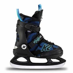 Girls' Marlee Ice Skates, CAMO Blue, 11-2