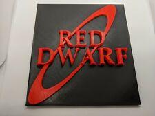 More details for red dwarf logo sign plaque model figurine geek figure miniature gift him her uk