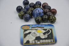 NEW ASTRONAUT MARBLES ONE LARGE SHOOTER 25mm & 20 SMALL 16mm IN NET HOM