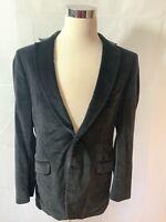 Black Velvet Paisley Suit Jacket Size 44 Large By Ben Sherman