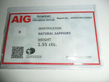 AIG Certified Natural Sapphire