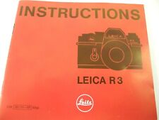 Leicar-3 Instruction Manual 47 Pages Vintage Original Manual English