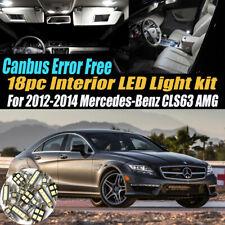 18Pc Error Free White Interior LED Light Kit for 2012-14 Mercedes-Benz CLS63 AMG