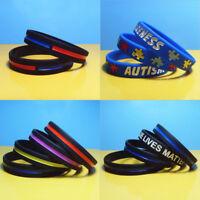 20 Pcs New Silicone Positive Energy Bracelet Men Women Rubber Band Comfortable