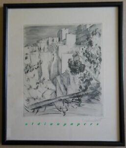 Paul Vahrenhorst Radierung Südfrankreich? 1880 Goldingen-1951 Starnberger See N1