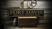 Custom National Historic Site Sign - Rustic Hand Made Vintage Wooden ENS1000650