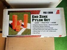 Pro-Down Weighted Football Pylon Set of 4 Anchorless Orange Viny Foam Free S&H