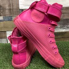 UK4.5 Womens Converse CTAS Brea Hi Neo 3D Mono Pink Hi Top Trainers - Rare Wrap