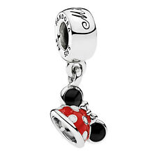 Pandora Originale Disney Minnie Mouse Minnie Orecchie Cappello Charm S925 ALE