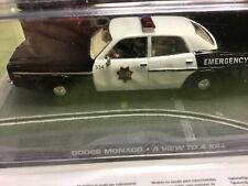 Dodge Monaco Police Car,  1/43 Scale,  James Bond Movie Car,  A View to Kill.