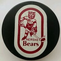 HERSHEY BEARS VINTAGE INGLASCO HOCKEY GAME PUCK CANADA RARE!
