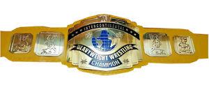 Intercontinental Heavyweight Champion Wrestling Belt Leather Replica Plates