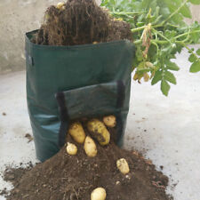 Potato Grow Planter PE Container Bag Pouch Root Plant Growing Pot Side Window