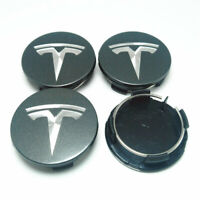 56mm Car Wheel Center Cap Rim Hubcaps Emblem Dark grey for Tesla Model 3 S X
