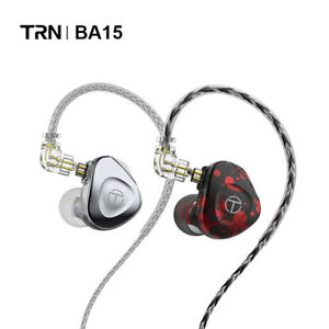 TRN BA15 30 Balanced Armature Driver Unit DJ Monitor QDC Cable In Ear Earphones