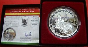 100 Francs Cameroon 2011 Pf / Carl Benz / Only 886 Ex Teilcoloriert/IN Case