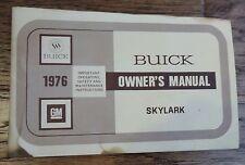 1976 BUICK SKYLARK - OWNERS MANUAL, INVOICE, ETC.