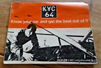 KYC64 Know Your Car and Get the Best Out of It BBC Publication 1964 Rare Item