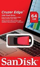 Sandisk CRUZER Edge 64GB USB 2.0 Flash Pen Drive 64 GB SDCZ51-064G-B35 Retail