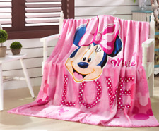 Hot Throws Flannel Blanket Minnie Mouse Soft Silky Bedding Rug 150*200Cm