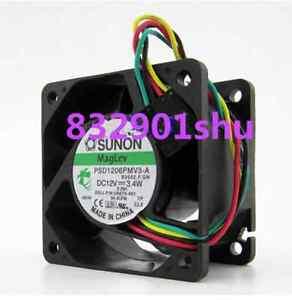 SUNON PSD1206PMV3-A Fan 12V 3.4W 60*60*38mm 4wire 5pin Original New Part