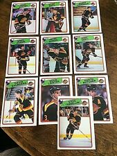 1988-89  O-Pee-Chee  VANCOUVER CANUCKS 10  card team set