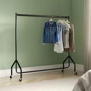 Heavy Duty Clothes Rail Rack 6ft Coat Hanger Display Stand Garment Hanging Shelf