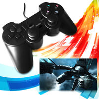 USB 2.0 Gamepad Joypad Joystick Game Controller  For PC Computer Laptop Black