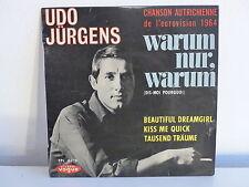 UDO JURGENS Warum nur warum EUROVISION 1964 EPL 8218