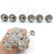10 Diamante Rhinestones Bridal Wedding Prom Women Hair Pins Clips Fashion TH
