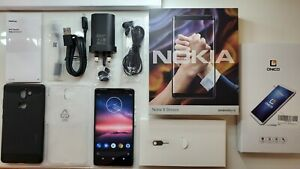 Nokia 8 Sirocco - 128GB - Black (Unlocked) Smartphone - Android 10 ONE + EXTRAS!