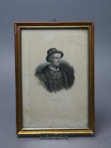 Kupferstich Bosselmann Louis XI ca 22,5 cm Bx ca .15 cm H