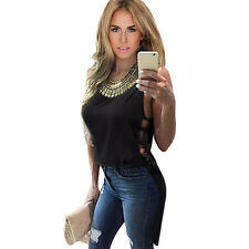 Womens Loose Tank Top Sleeveless Blouse Summer Ladies Casual Vest Tops T-Shirt